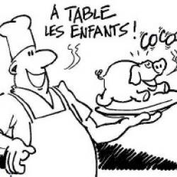 Dessin landais cl58 a table